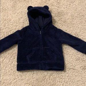 Teddy Bear fleece zip up hoodie